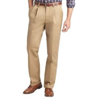 Izod Classic American Chino Double Pleated Front Pants English Khaki 38 x 29