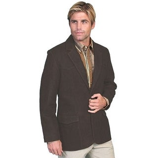 Scully Western Blazer Mens Button Leather Lapel Pockets Bark 602-63