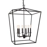 "Norwell Lighting 1082 Cage 6 Light 24"" Wide Candle Style Chandelier with Steel Cage"