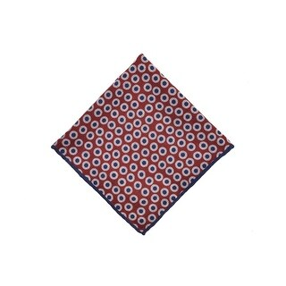 Brunello Cucinelli Red Wool Colorblock Inset Circles Pocket Squares