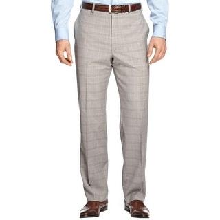 Shaquille O'Neal Mens Dress Pants Wool Plaid