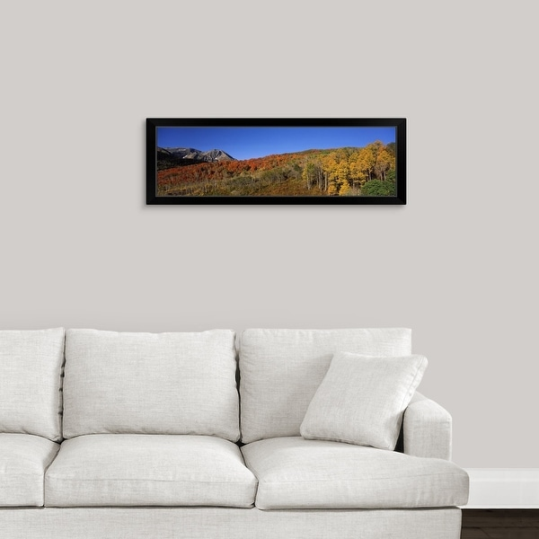 """""""Mountains on a landscape Mt Timpanogos Wasatch Mountains Utah"""" Black Framed Print"""