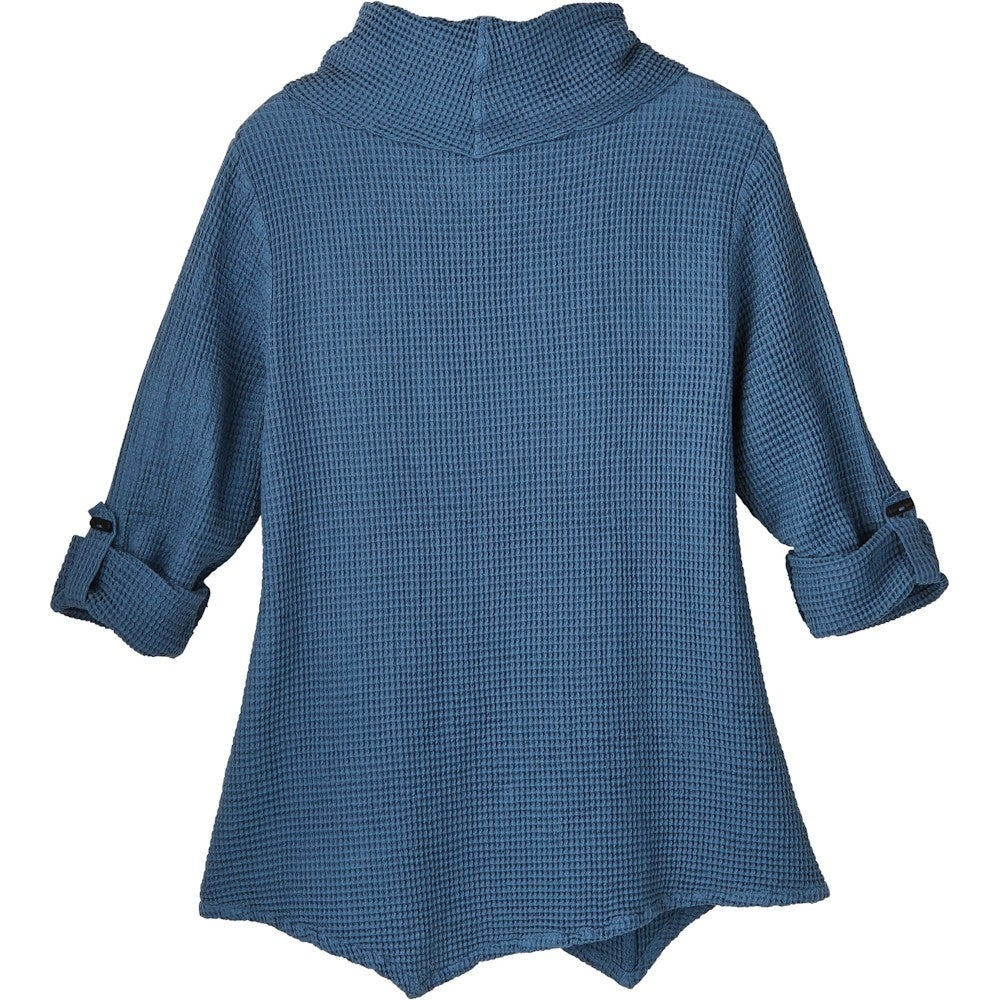 Color Blue NEW Size L Who What Wear Women/'s Drawstring Sleeve Top
