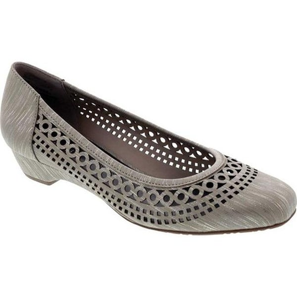 Ros Hommerson Women's Tina Flat Taupe Laser Stripe Fabric