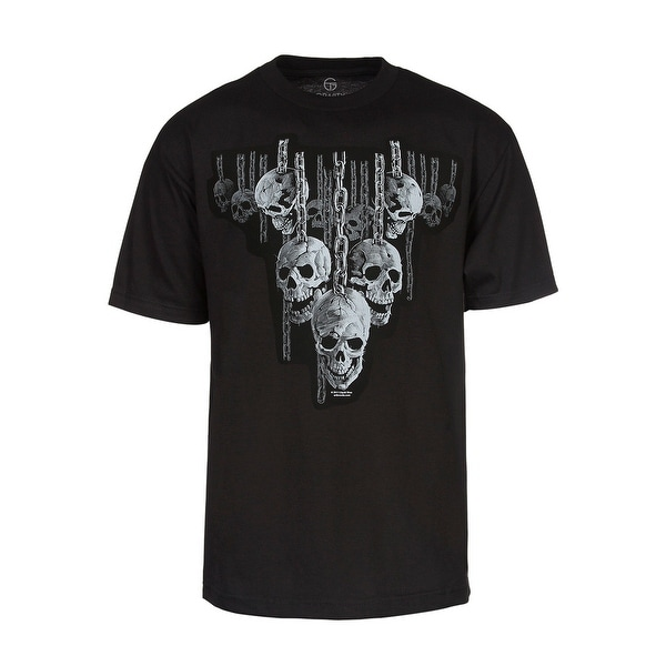 Men's Hanging Out Skulls in Chains Short-Sleeve T-Shirt, Black