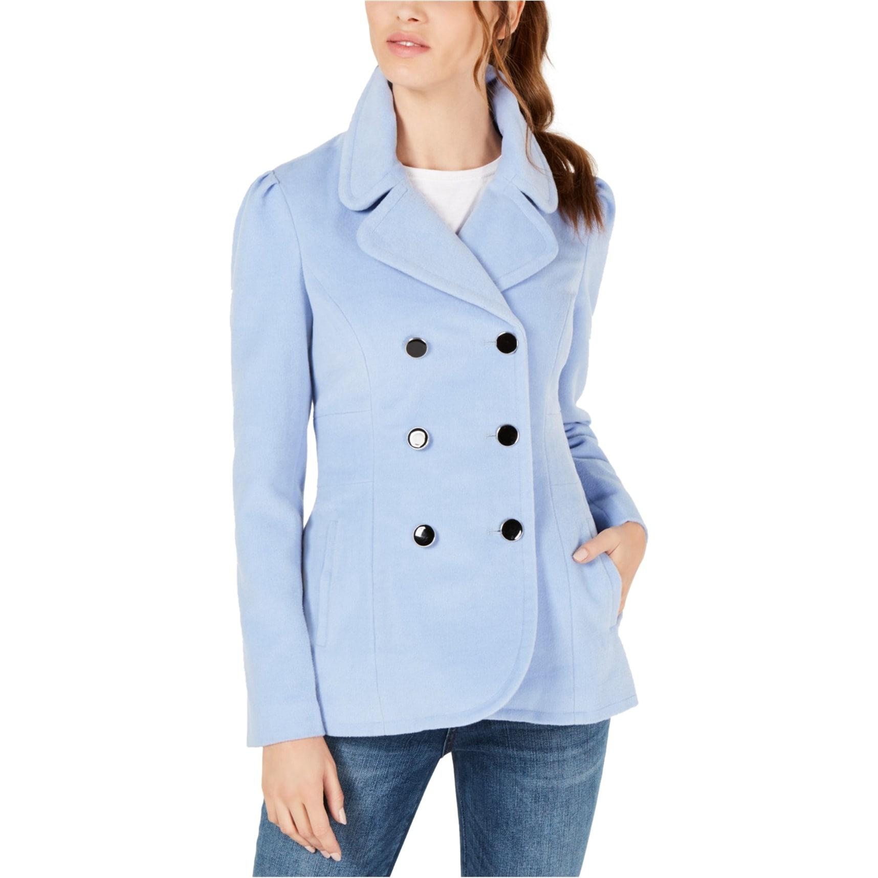 maison Jules Womens Plaid Cape Jacket
