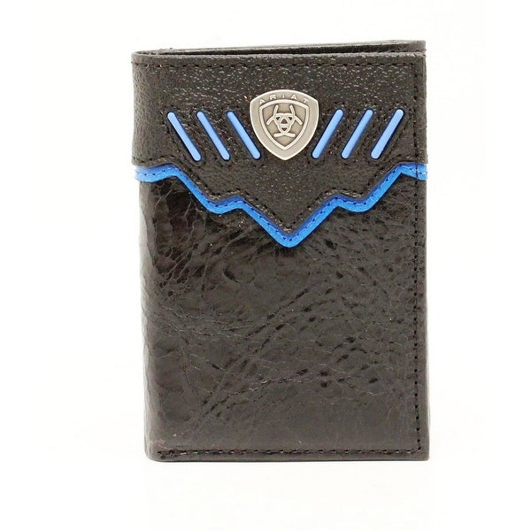 Ariat Western Wallet Mens Trifold Concho Contrast Lacing - One size