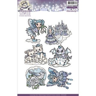 "Find It Trading Yvonne Creations Clear Stamp 6""X8.25""-Magical Winter"