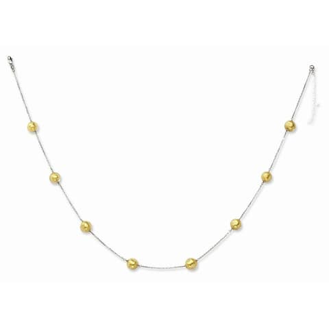 Curata 14k White Gold Lobster Claw Closure Murano Glass 8.00mm Bead Necklace 16 Inch Jewelry Gifts for Women