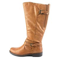 Bare Traps Womens Corrie 2 Round Toe Knee High Riding Boots