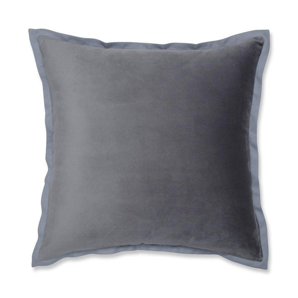 "18"" Springtime Manatee Gray Flange Decorative Throw Pillow"
