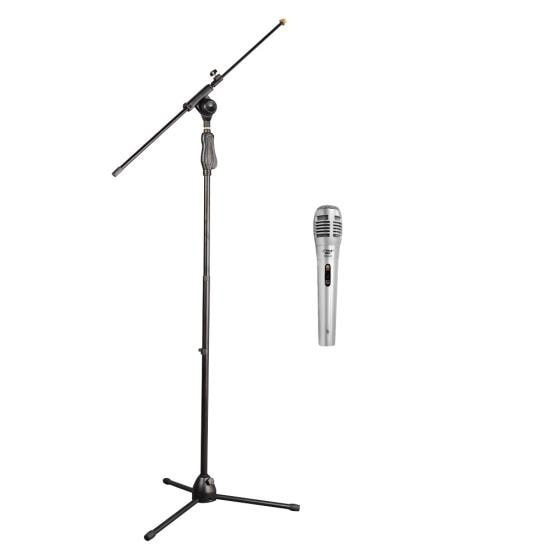 Tripod Microphone Stand W/ Extending Boom Professional Dynamic Handheld Microphone