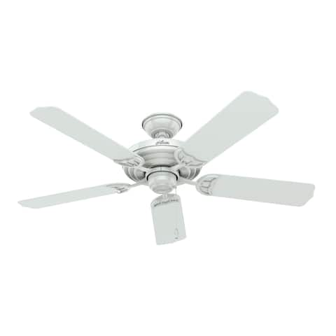 "Hunter Fan Sea Air 52"" White Outdoor, Wet-Rated, Pull Chain"