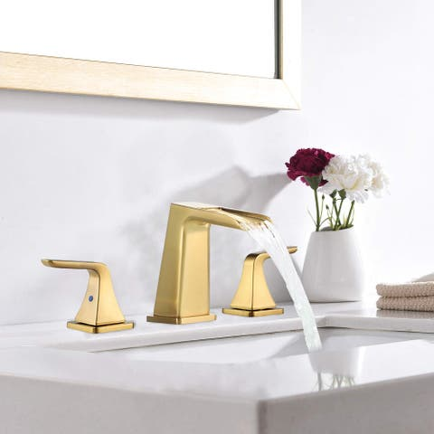 Two handles for waterfall bathroom faucet