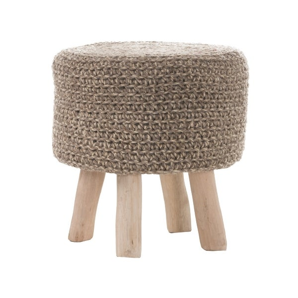 Montana Handcrafted Ottoman Stool by Christopher Knight Home. Opens flyout.