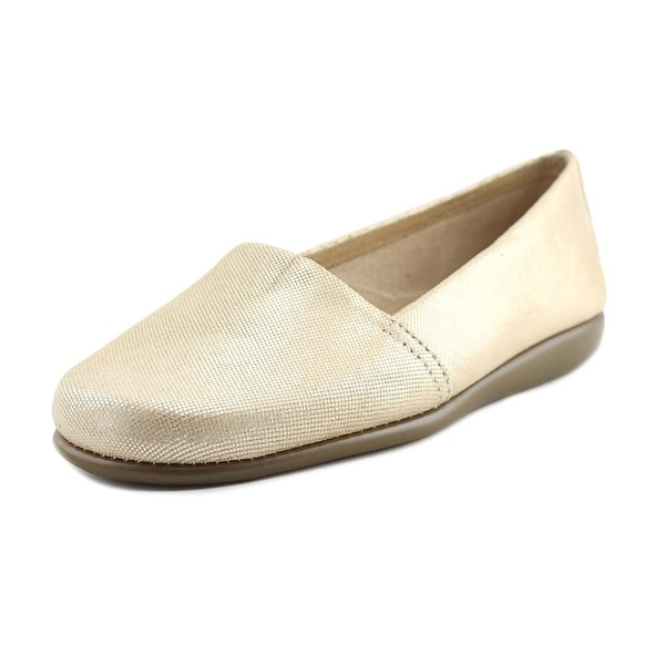 Aerosoles Mr Softee Women W Round Toe Leather Gold Loafer
