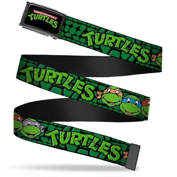 Classic Tmnt Logo Fcg Chrome Classic Tmnt Group Faces Turtles Turtle Web Belt