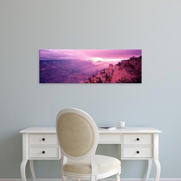 Easy Art Prints Panoramic Image 'Rock formations, Yaki Point, Grand Canyon National Park, Arizona' Canvas Art