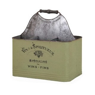 12.75 Crocodile Green Sip and Store Esprit Metal Decorative Wine Caddy
