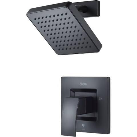 Pfister LG89-7DF Kenzo Faucet Valve Trim Single Handle Pressure Balanced with Raincan Shower Head -