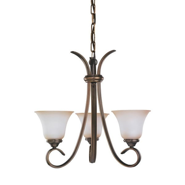 Sea Gull Lighting 31360-829 3-Light Rialto Chandelier Glass Russet Bronze Finish - Bronze Finish