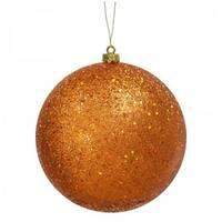Vickerman N592018Q 8 in. Burnish Orange Sequin Ball