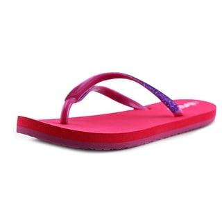 Reef Little Stargazer Youth Open Toe Synthetic Pink Flip Flop Sandal