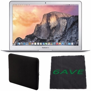 "Apple 13.3"" MacBook Air Laptop Computer 256GB #MMGG2LL/A + Padded Case For Macbook + Fibercloth Bundle"