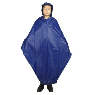 Unique Bargains Unique Bargains Bicycle Raincoat Pullover Style Hooded Rain Coat Cape Blue for Adult