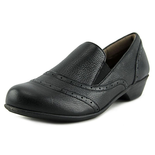 Comfortiva Rose Women Round Toe Leather Black Loafer