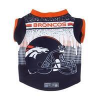 Denver Broncos Pet Performance Tee Shirt Size XL