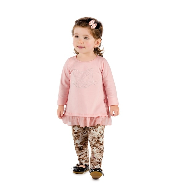 Pulla Bulla Baby Girl Long Sleeve Shirt Kitty Graphic Tee