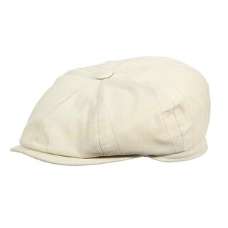 Stetson Men's Cotton Herringbone Windowpane Newsboy Cap