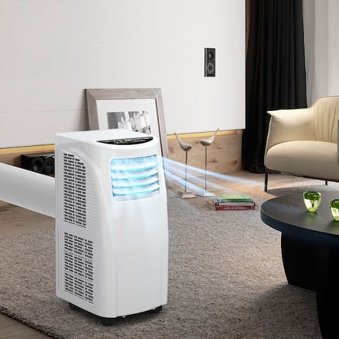 Portable Air Conditioner with Dehumidifier Function & Wheels &RC