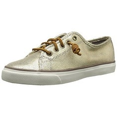 Sperry Womens Seacoast Metallic Low Top Lace Up Fashion Sneakers