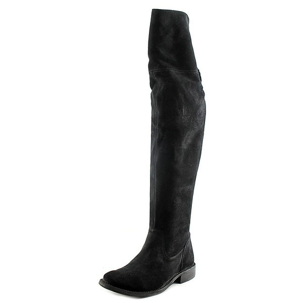 Frye Shirley OTK Women Round Toe Leather Black Over the Knee Boot