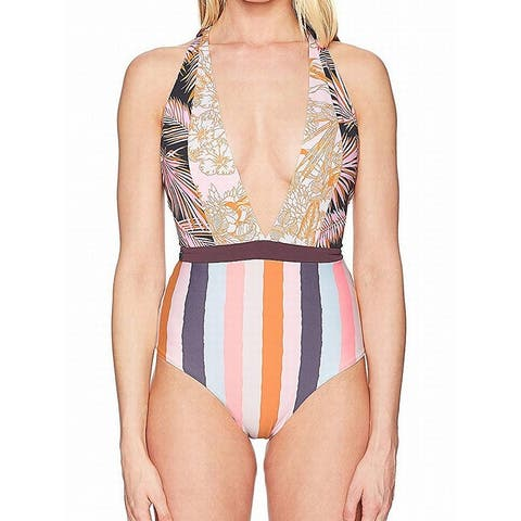 Maaji Womens Swimwear Orange Size Medium M Halter Reversible One-Piece