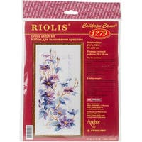 "Clematis Counted Cross Stitch Kit-9.75""X19.75"" 14 Count"