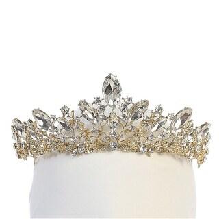 Angels Garment Girls Gold Tone Sparkle Stone Adorned Stylish Tiara