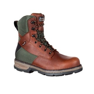 Rocky Outdoor Boots Mens Insulated Leather Fieldlite Brown