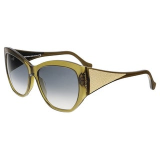Balenciaga BA0022 96B Olive Green Cat Eye Sunglasses