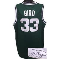 Larry Bird signed Boston Celtics Green Adidas TB Hardwood Classics Jersey XL 2 length BirdSSG Holog