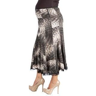 24seven Comfort Apparel Midi Maternity Skirt