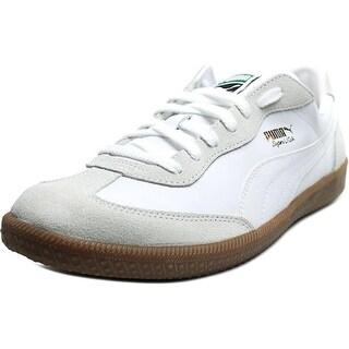 Puma Super Liga OG Retro Men Round Toe Leather White Sneakers