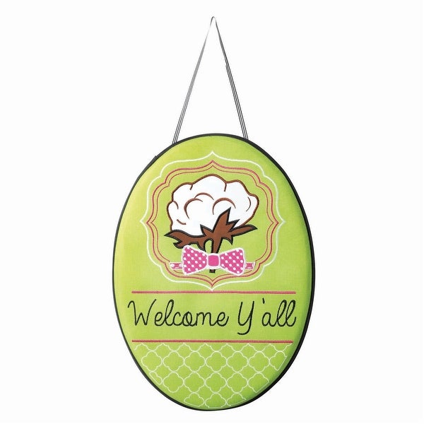 """18"""" Southern Cotton """"Welcome Y'all"""" Door Banner - other-frame-size"""