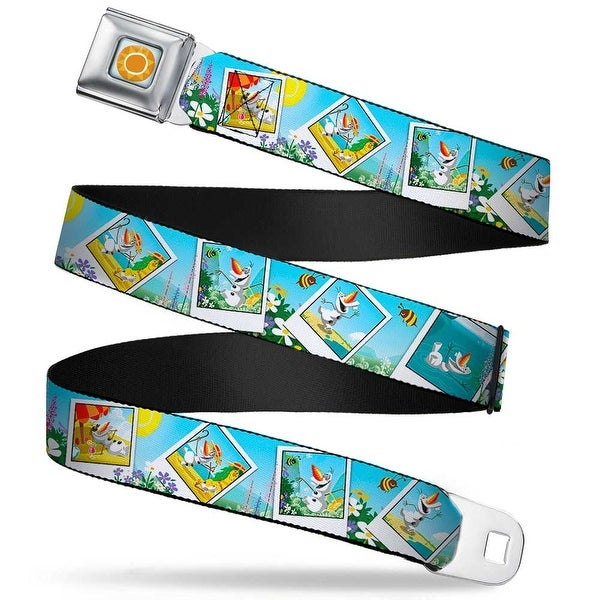 Frozen Sun Full Color Blue Yellows Olaf Summertime Snapshots Webbing Seatbelt Belt
