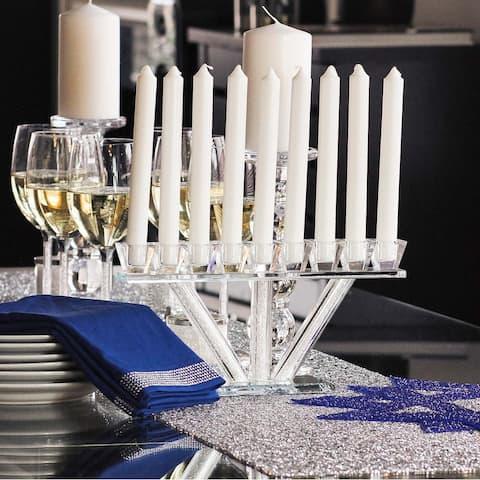 Sparkles Home Rhinestone Crystal-Filled Menorah - N/A