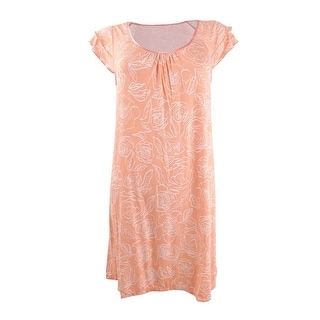 Link to Charter Club Women's Flutter Sleeve Knit Nightgown - Coral Mist Similar Items in Intimates