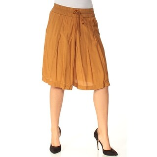 Womens Brown Casual Wide Leg Short Size S
