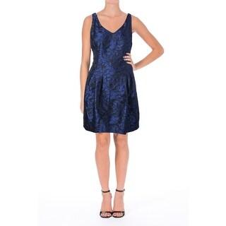 Lauren Ralph Lauren Womens Jacquard Sleeveless Cocktail Dress
